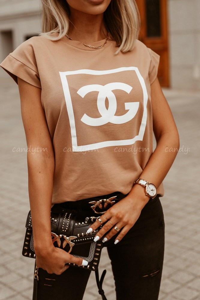 T-SHIRT COCO CAMEL