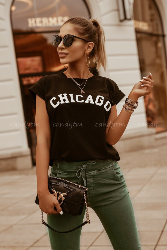 T-SHIRT CHICAGO CZARNY