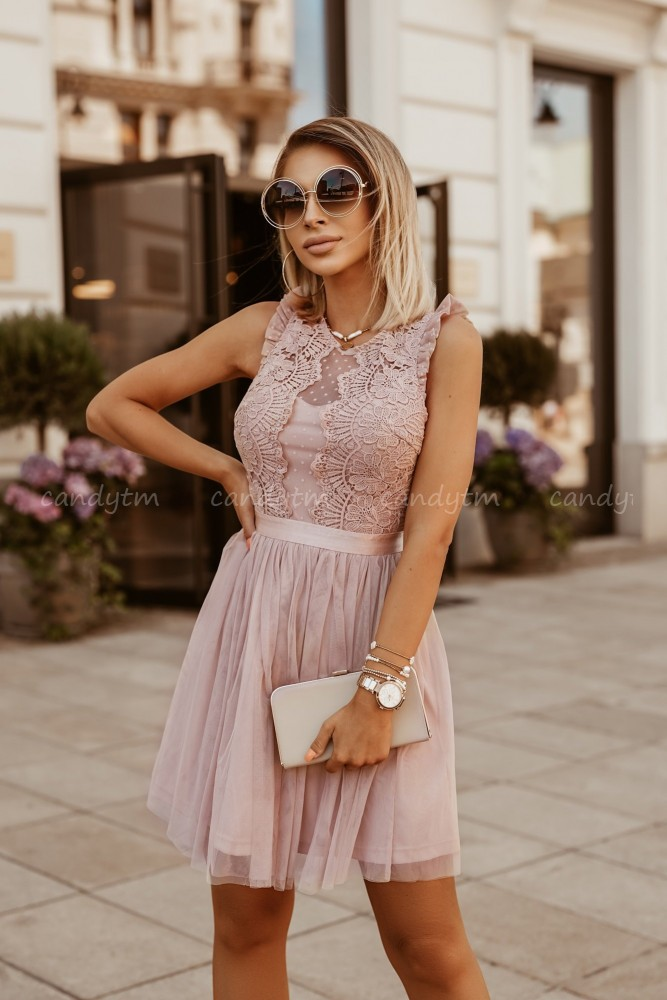 DRESS GLAM TAUPE