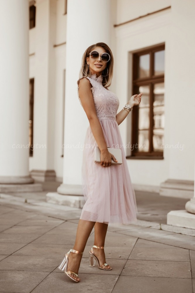 DRESS SOKY II TULLE NUDE
