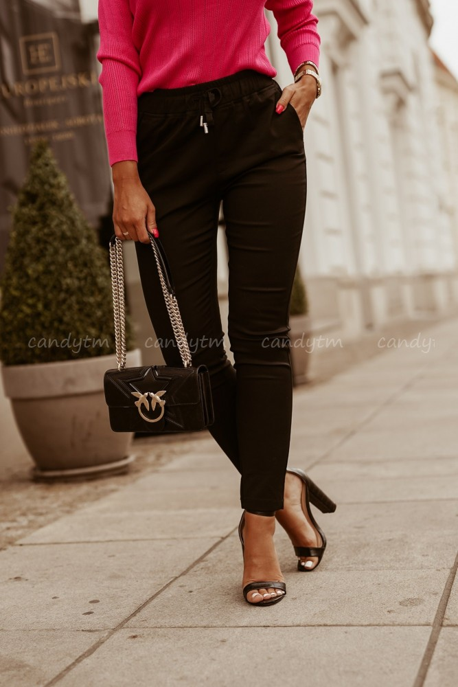 CIGARETTE TROUSERS ELASTIC BLACK