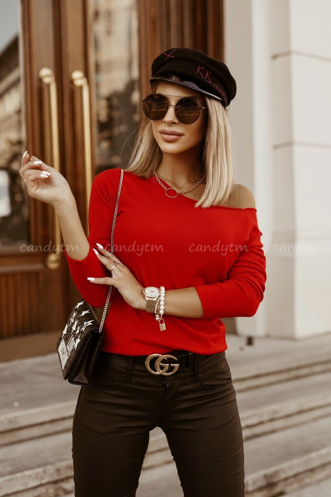 SWEATER LOLA BOAT NECK RED