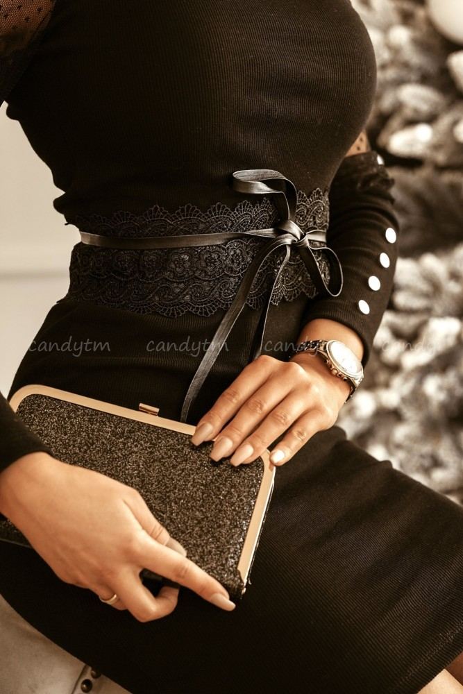 LACE BELT BLACK