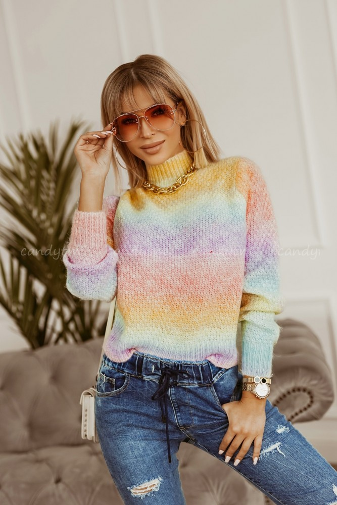 SWETER RAINBOW OMBRE PINK
