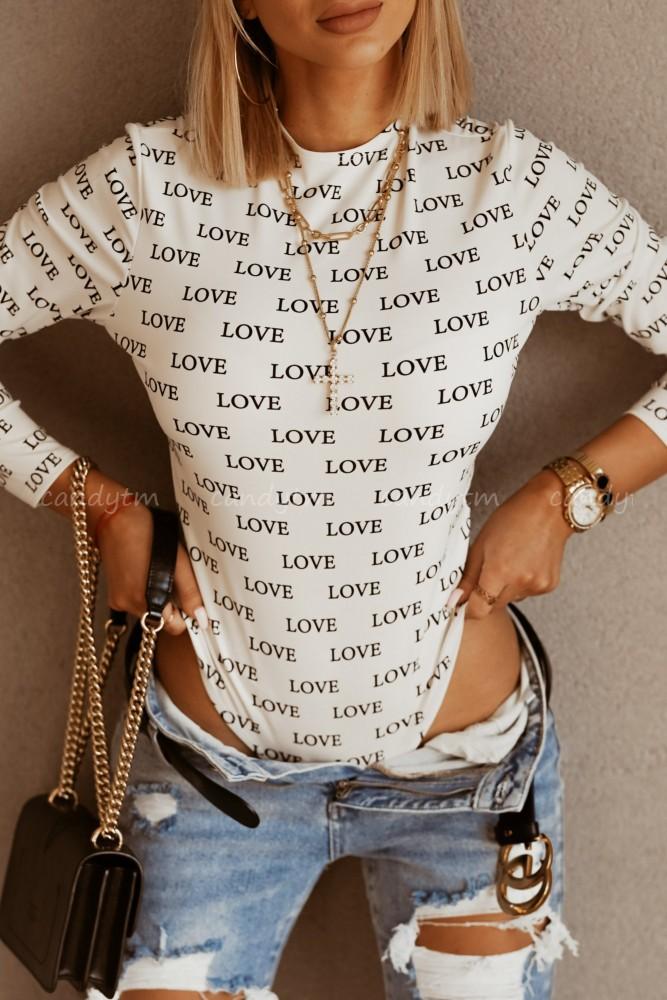 BODY LOVE LOVE BIAŁO-CZARNE